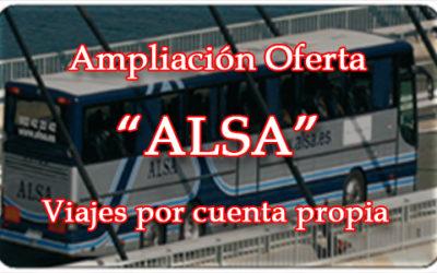Ampliación Oferta Grupo ALSA para el personal del MINISDEF