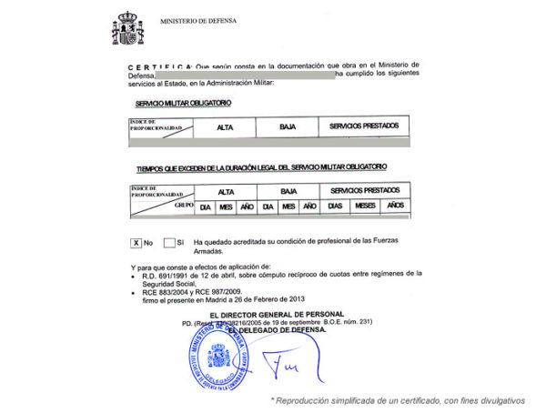 Certificado de periodos cotizados al Estado