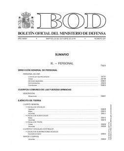 Boletín Oficial del Ministerio de Defensa numero 212 de 30 de octubre de 2018