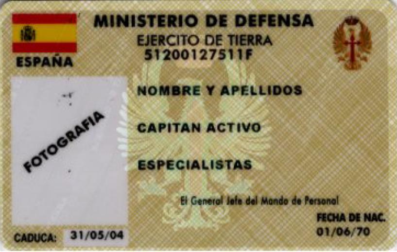 Tarjeta de Identidad Militar en situación de Reserva y Retiro