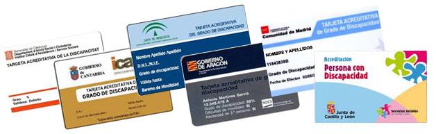 Tarjeta acreditativa de grado de discapacidad Navarra