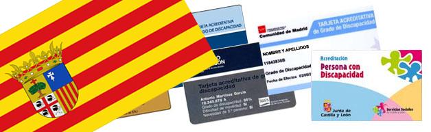 Tarjeta acreditativa de grado de discapacidad Aragón