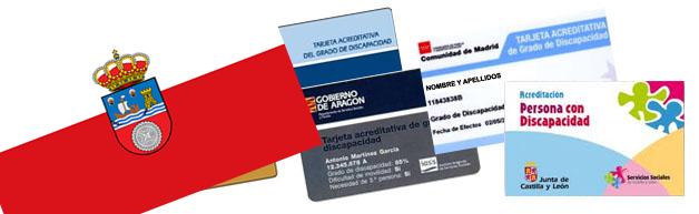 Tarjeta acreditativa de grado de discapacidad Cantabria