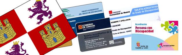 Tarjeta acreditativa de grado de discapacidad Castilla León