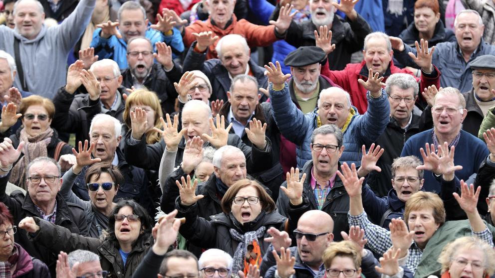 Los pensionistas reclaman una pensión justa para sobrevivir