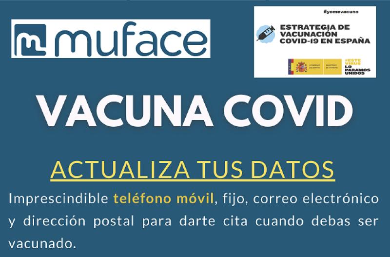 AVISO URGENTE VACUNACIÓN MUFACE: ACTUALIZACIÓN DE DATOS DE CONTACTO