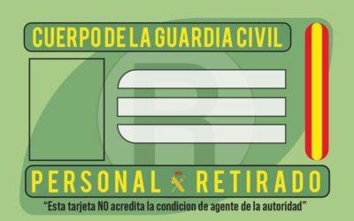 Se crea tarjeta de retirado de la Guardia Civil por Orden General 5/2021 de 23 de marzo